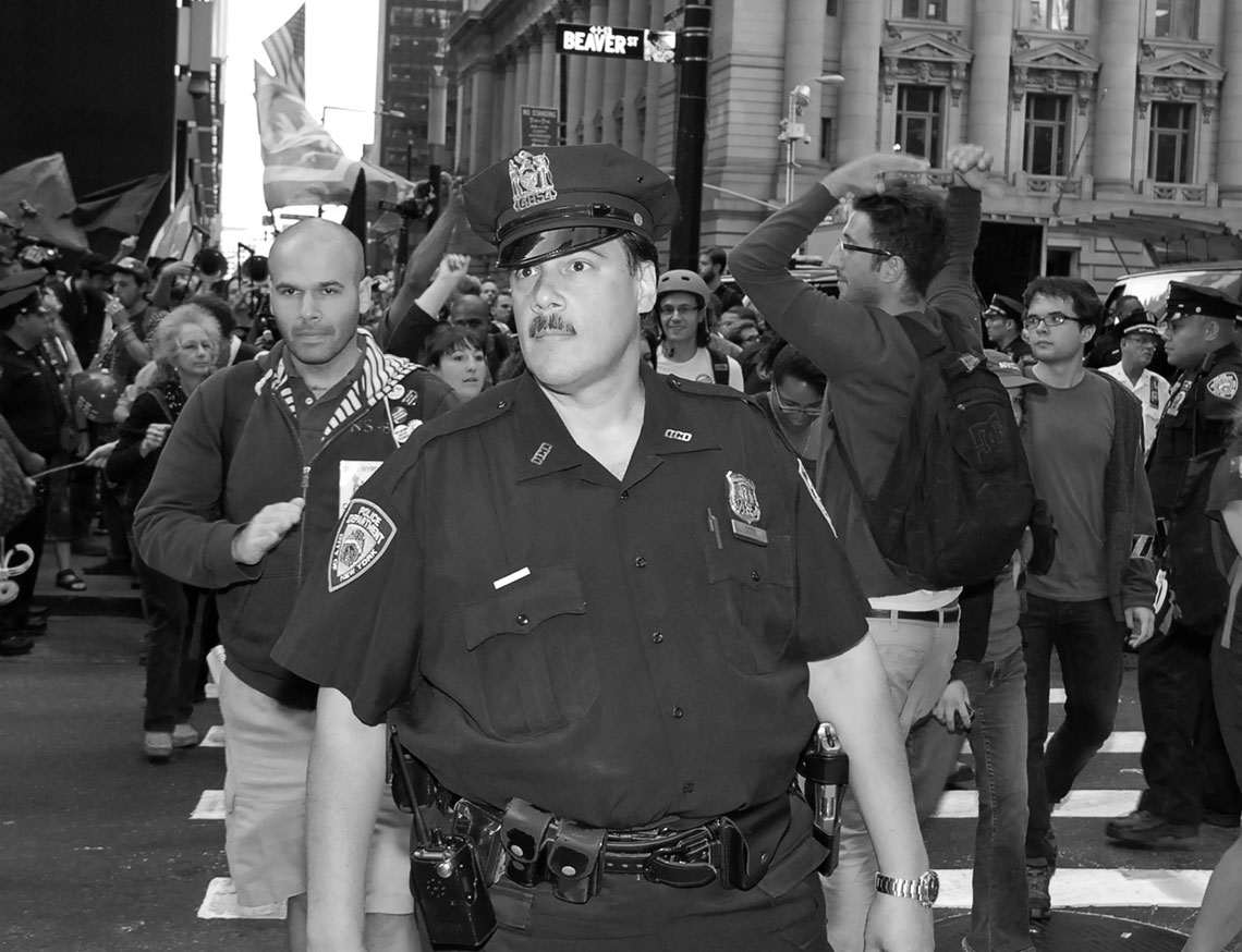 Old School Police officer NYPD Occupy Wall Street