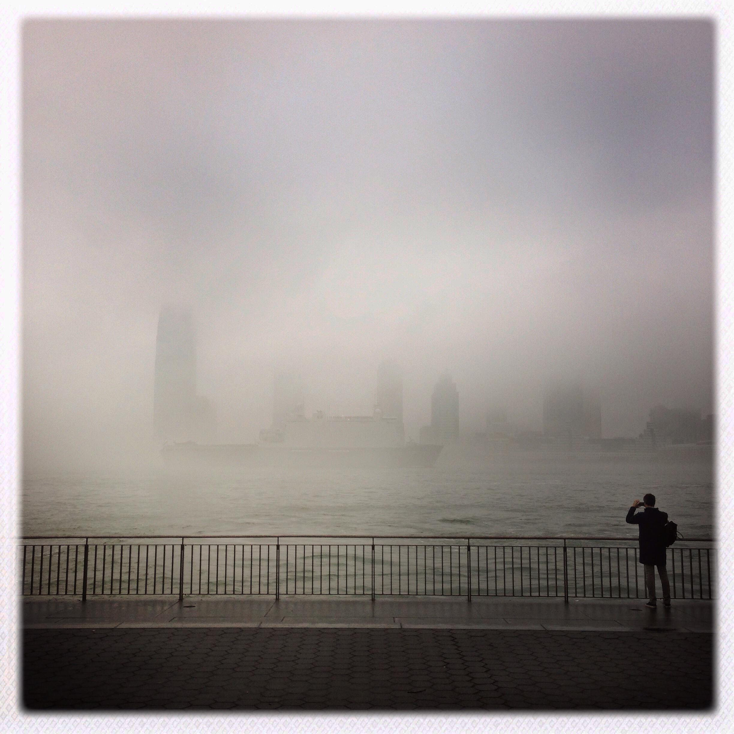 Fog Photographer Battery Park Promenade