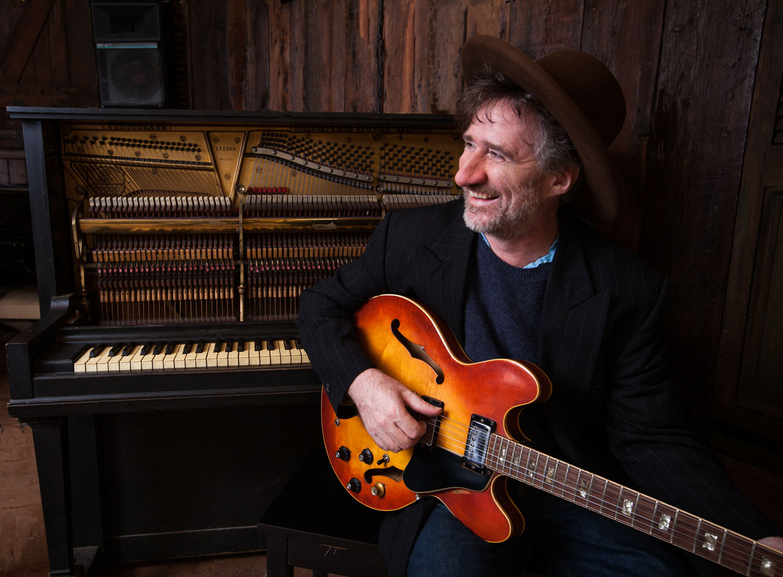 Jon Cleary in the studio