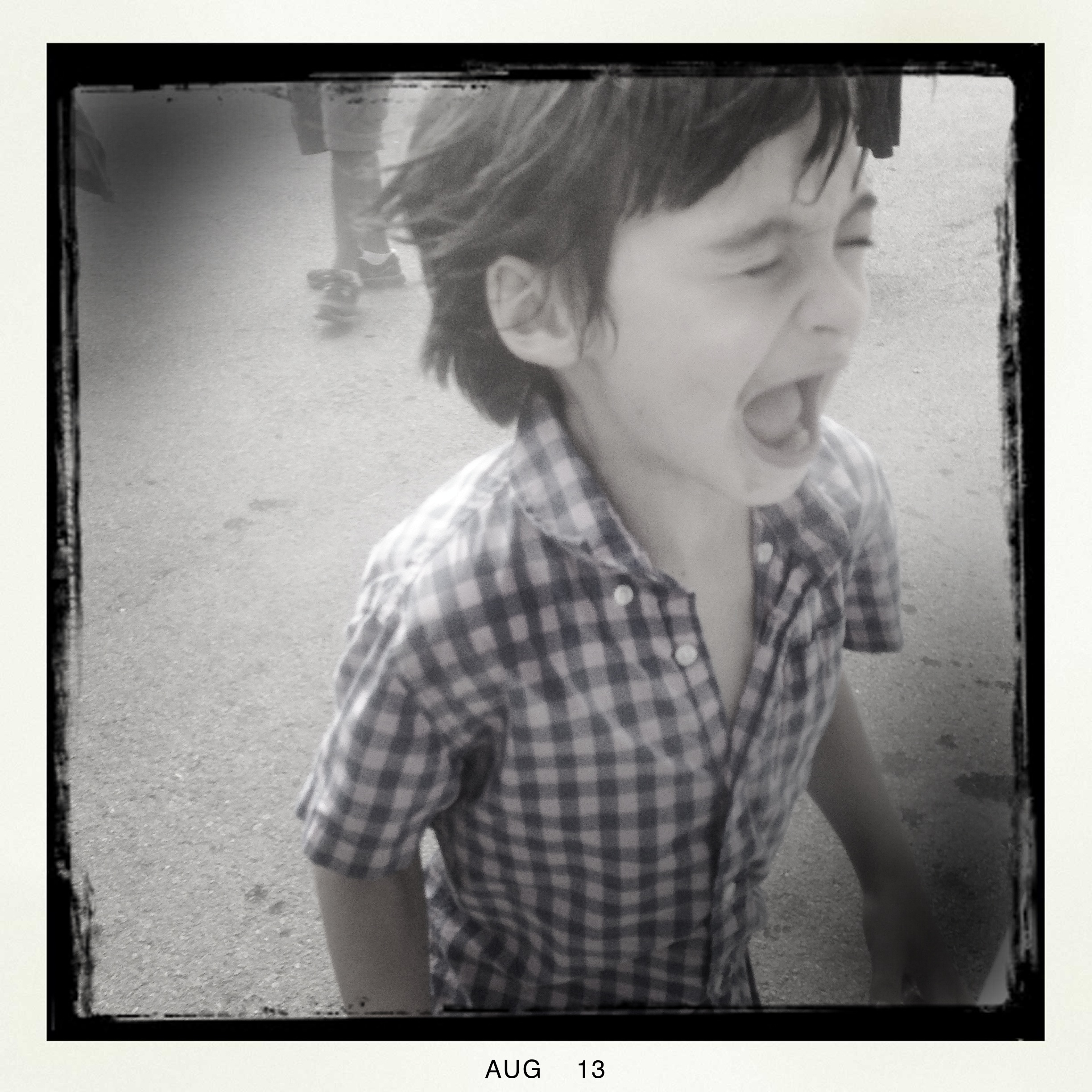 Boy Laughing at Summer Fair