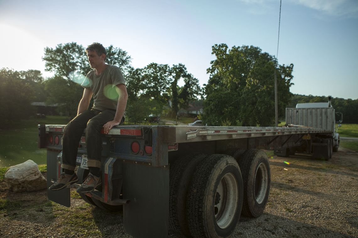 Sound Man on truck Barnwood Builders DIY Network