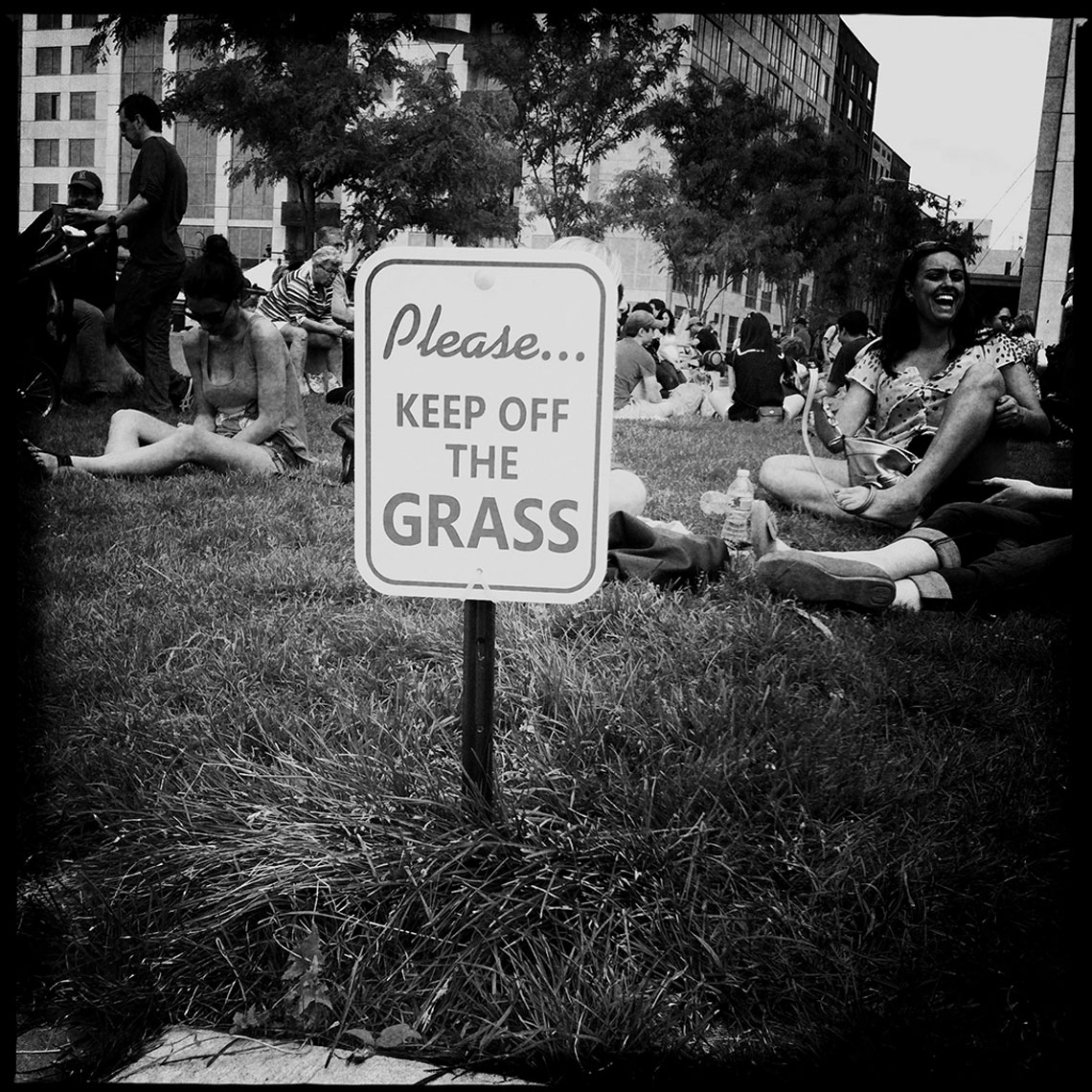 Keep off the Grass Williamsburg Brooklyn