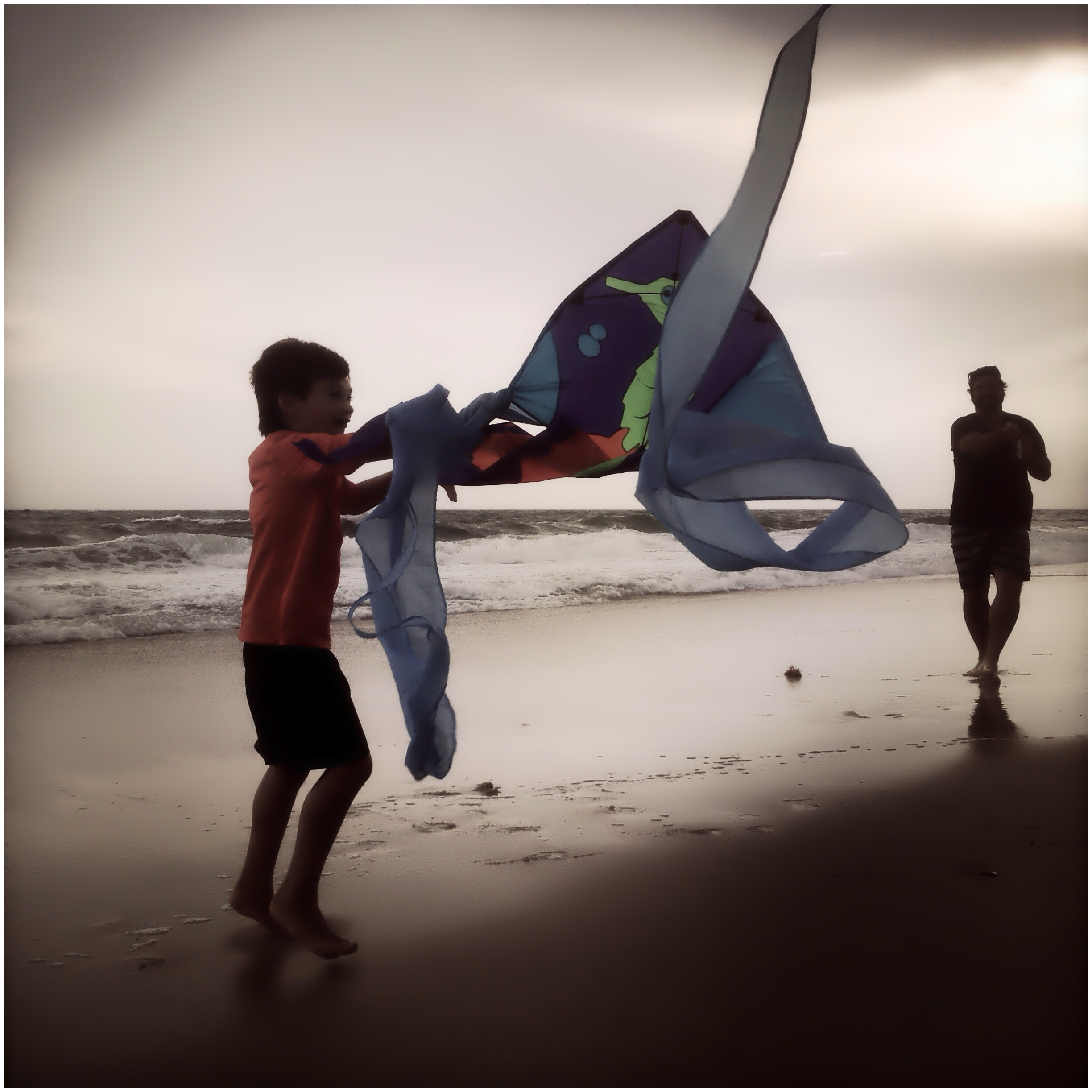 Boy and Kite Hamptons NY