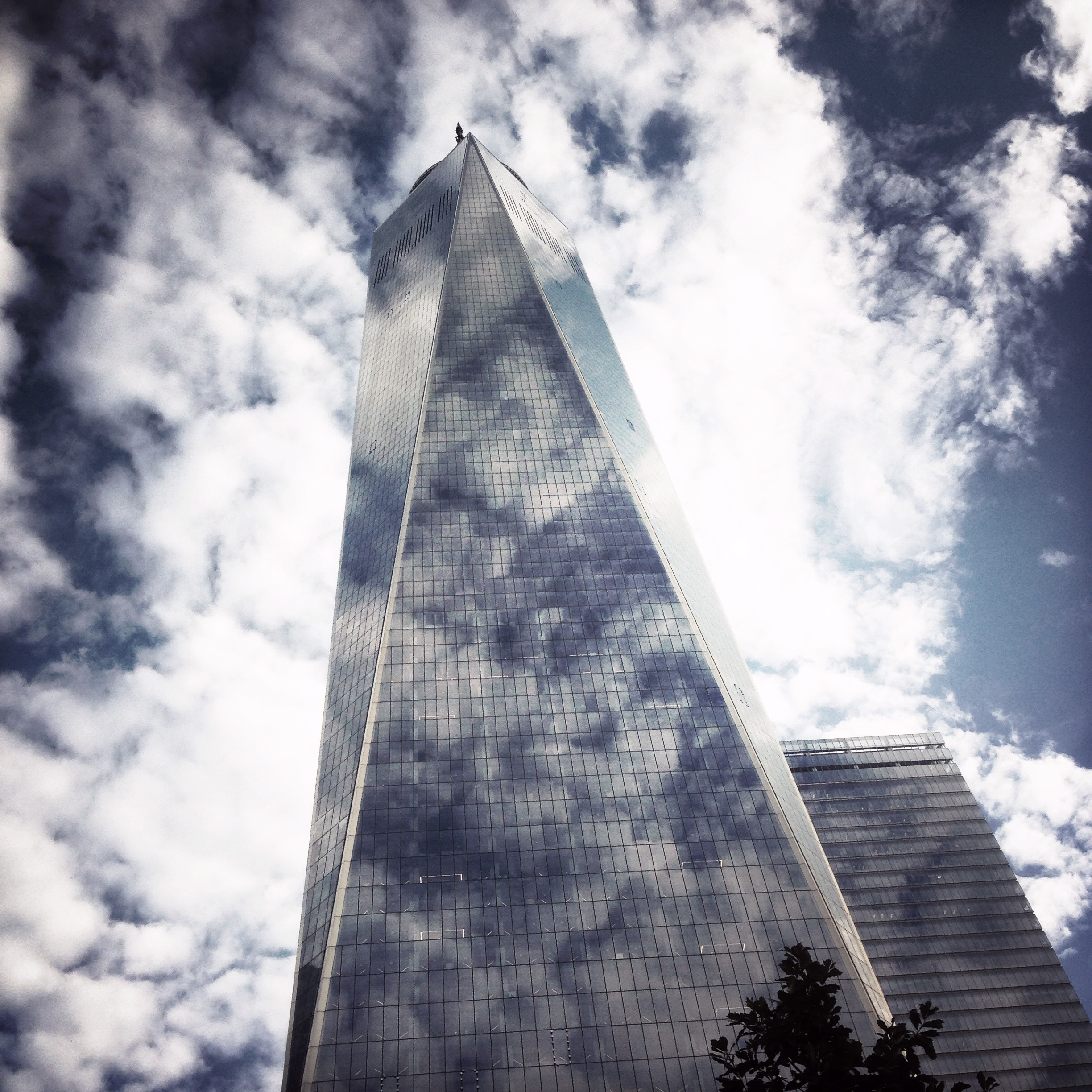 Reflecting Clouds Freedom Tower