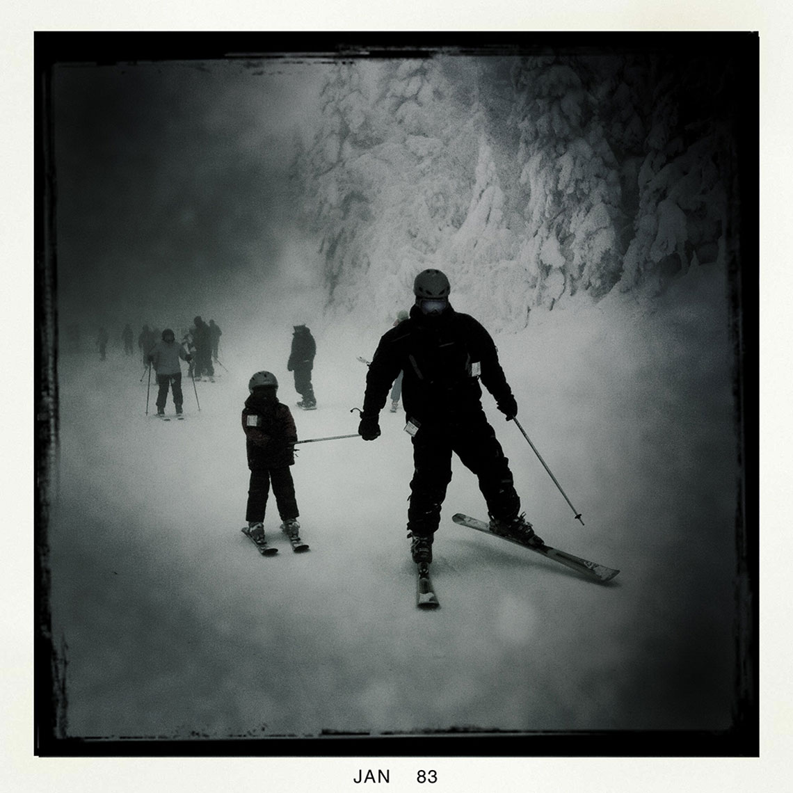 Father and Son Skiing Mont Tremblant Canada