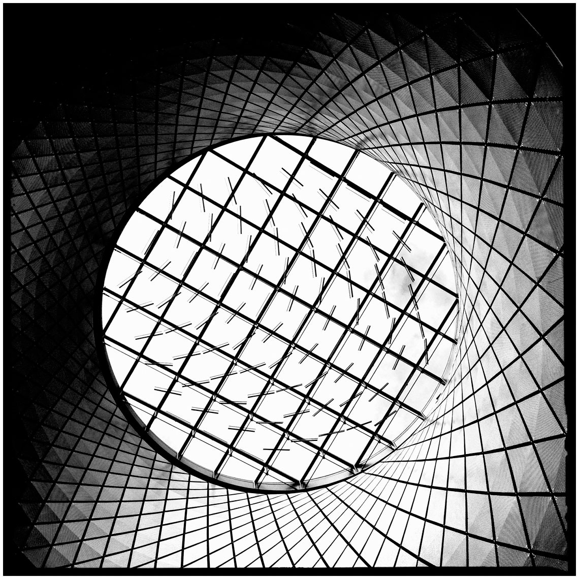 Grid SkyLight Fulton Street Subway NYC