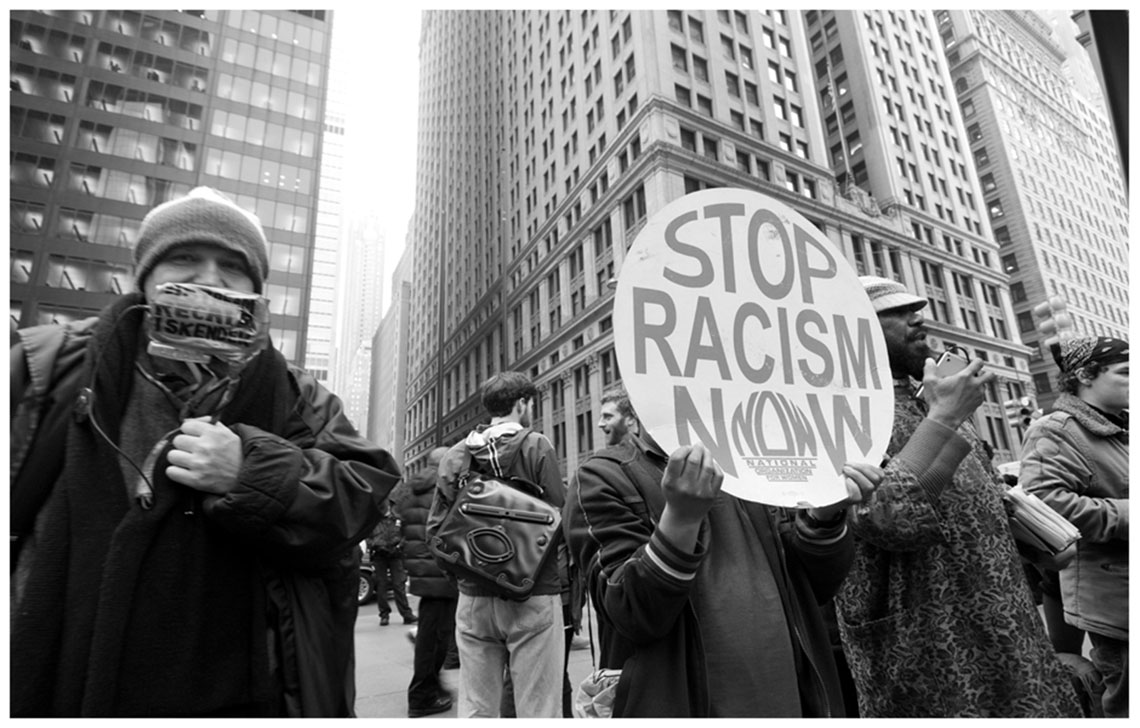 Occupy Wall Street Protesters Stop Racism