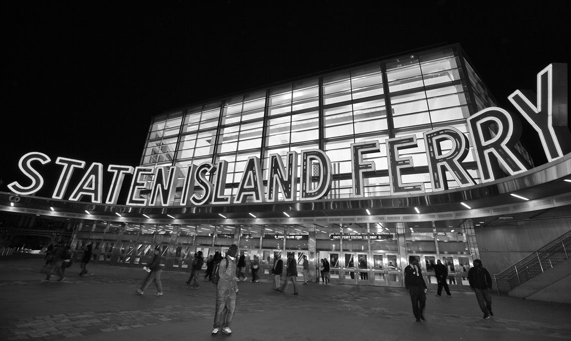 Staten Island Ferry Terminal at Night