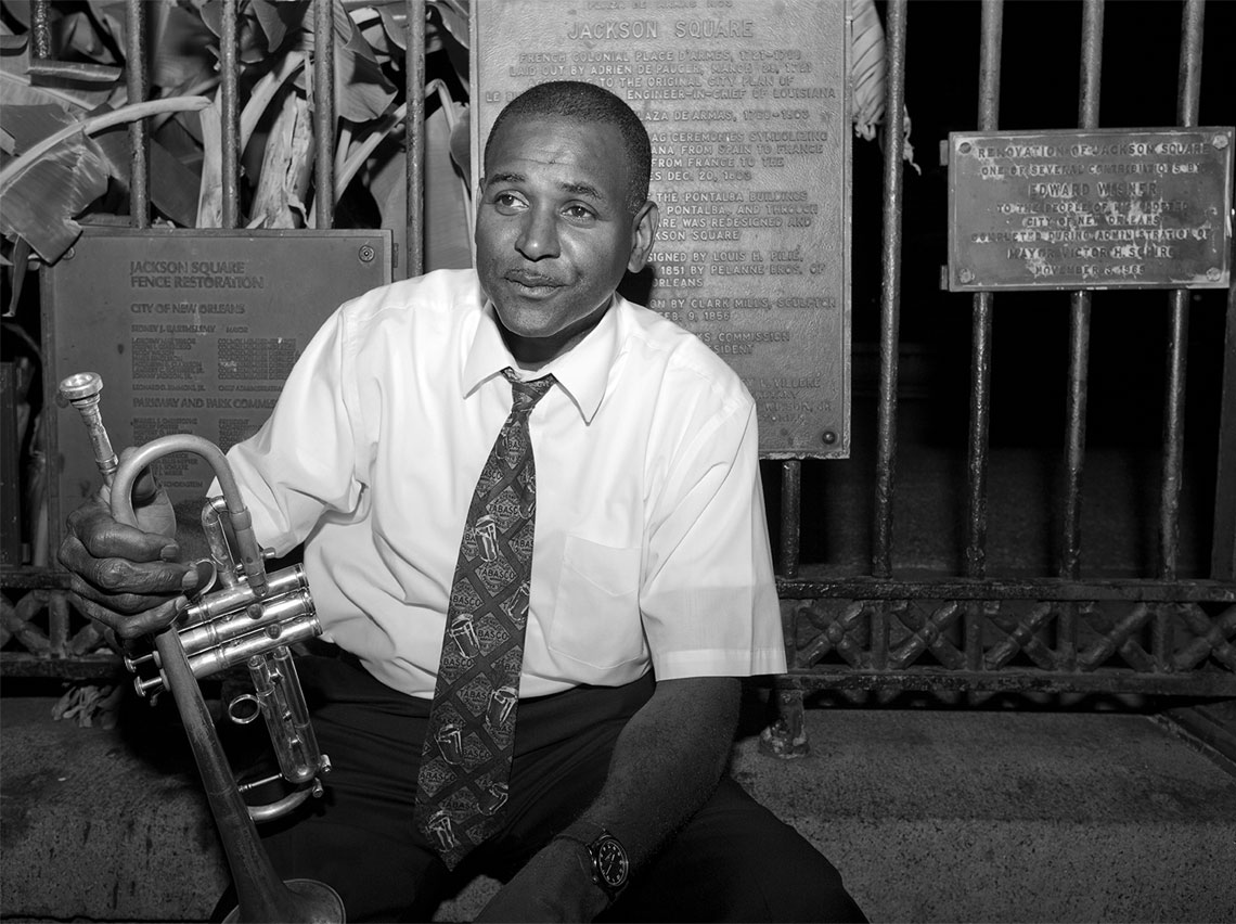 Trumpet Player Jackson Square New Orleans