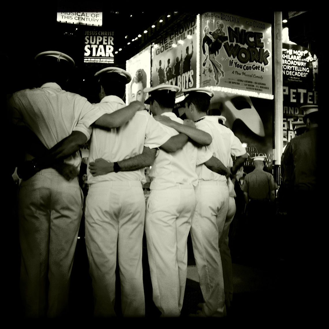 Sailors Hug Times Square