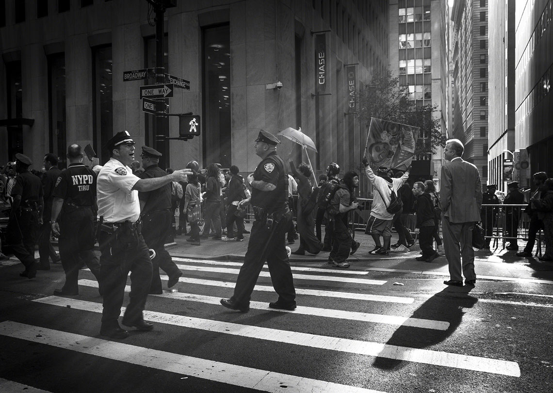 Occupy Wall Street NYPD street crossing AP29 annual selection